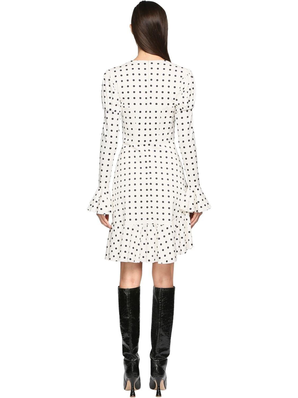 GIUSEPPE DI MORABITO Ottoman Polka Dot Mini Dress