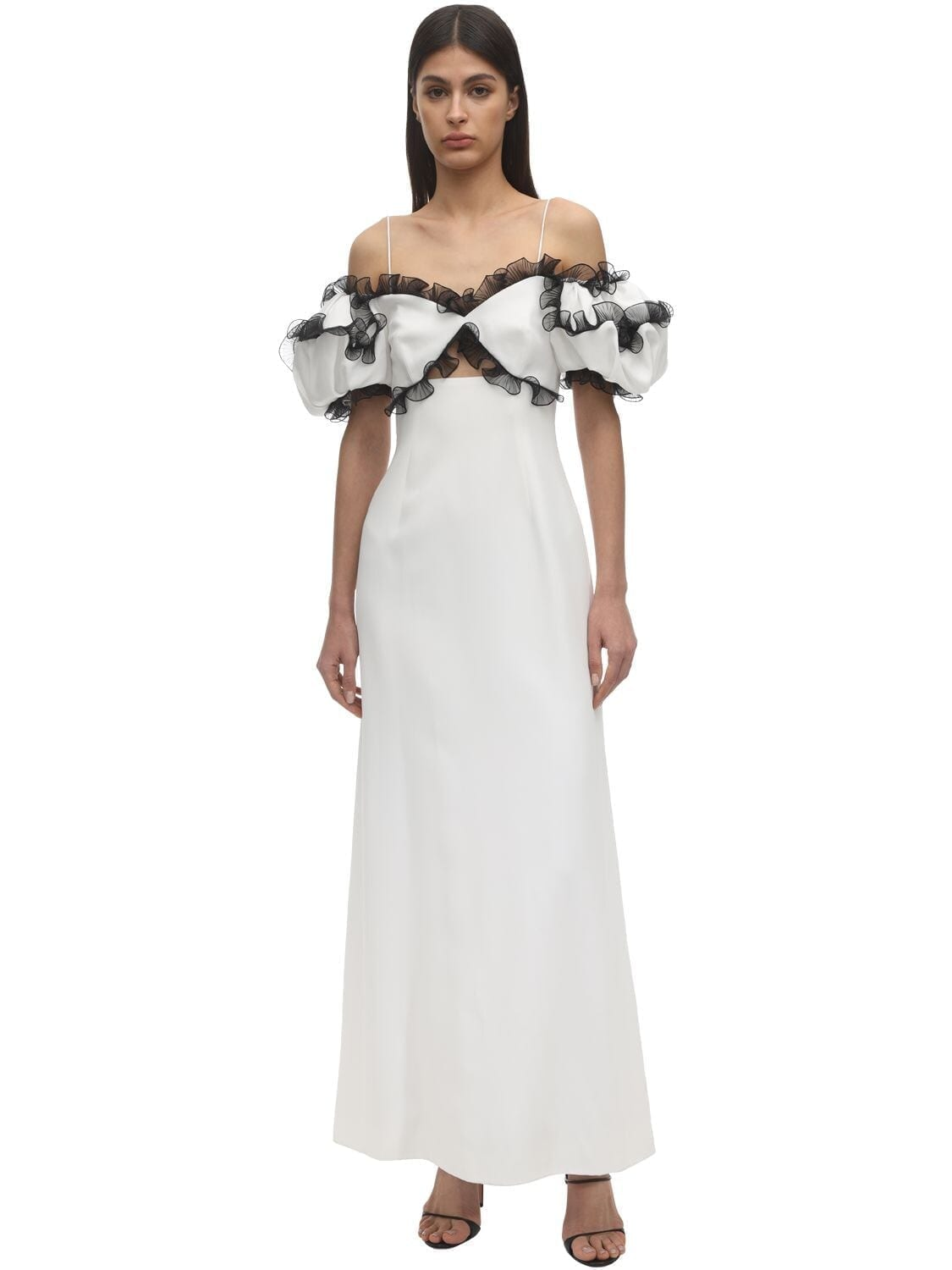 GIVENCHY Ruffled Crepe Envers Satin Dress