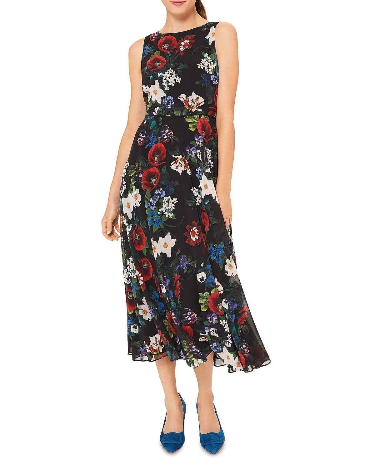 HOBBS LONDON Carly Floral Print Dress