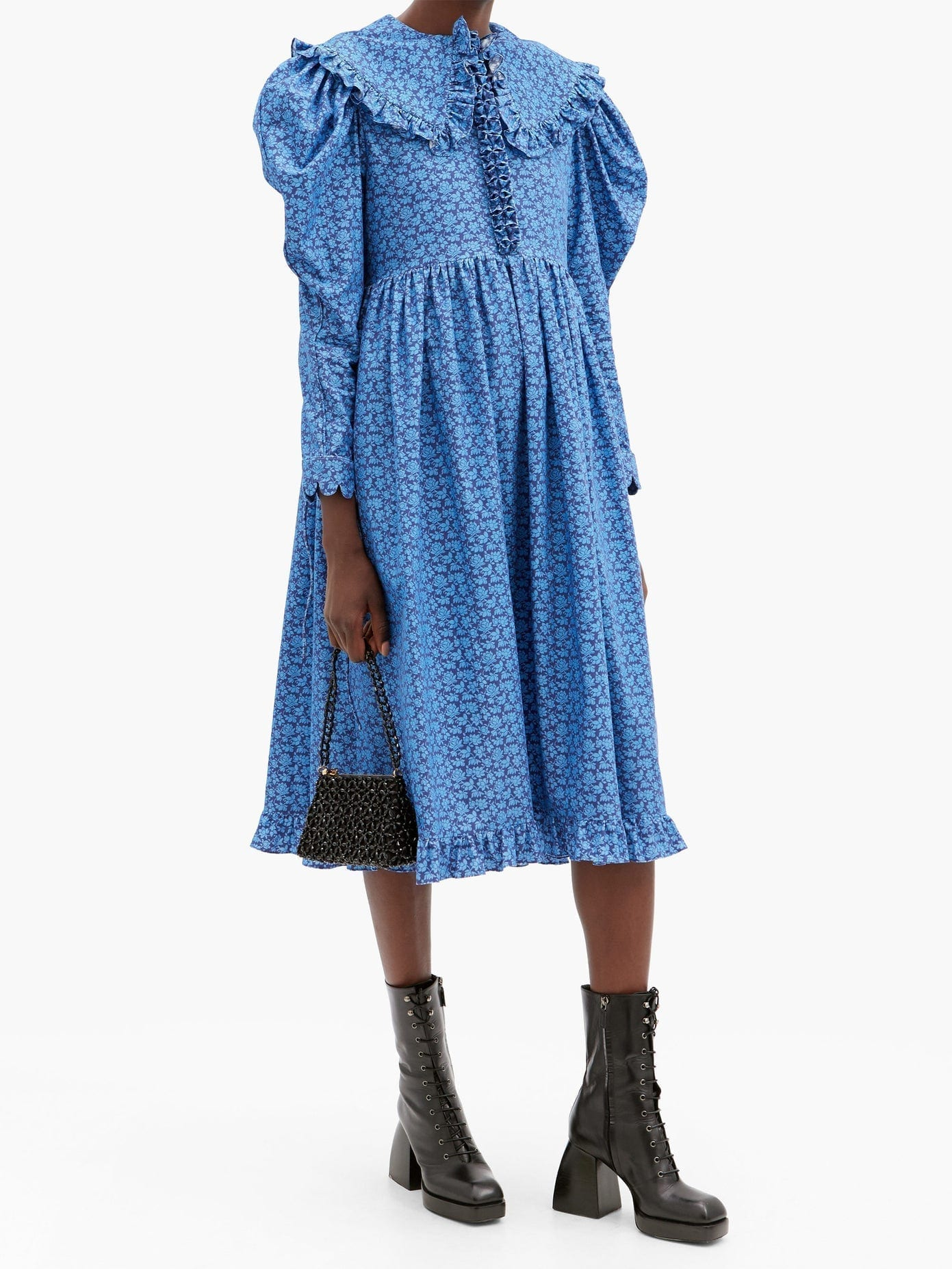 HORROR VACUI Lisi Floral-print Cotton-corduroy Dress