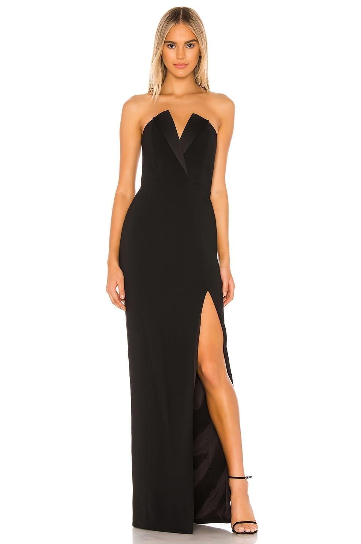 JAY GODFREY Sylvia Strapless Tux Gown