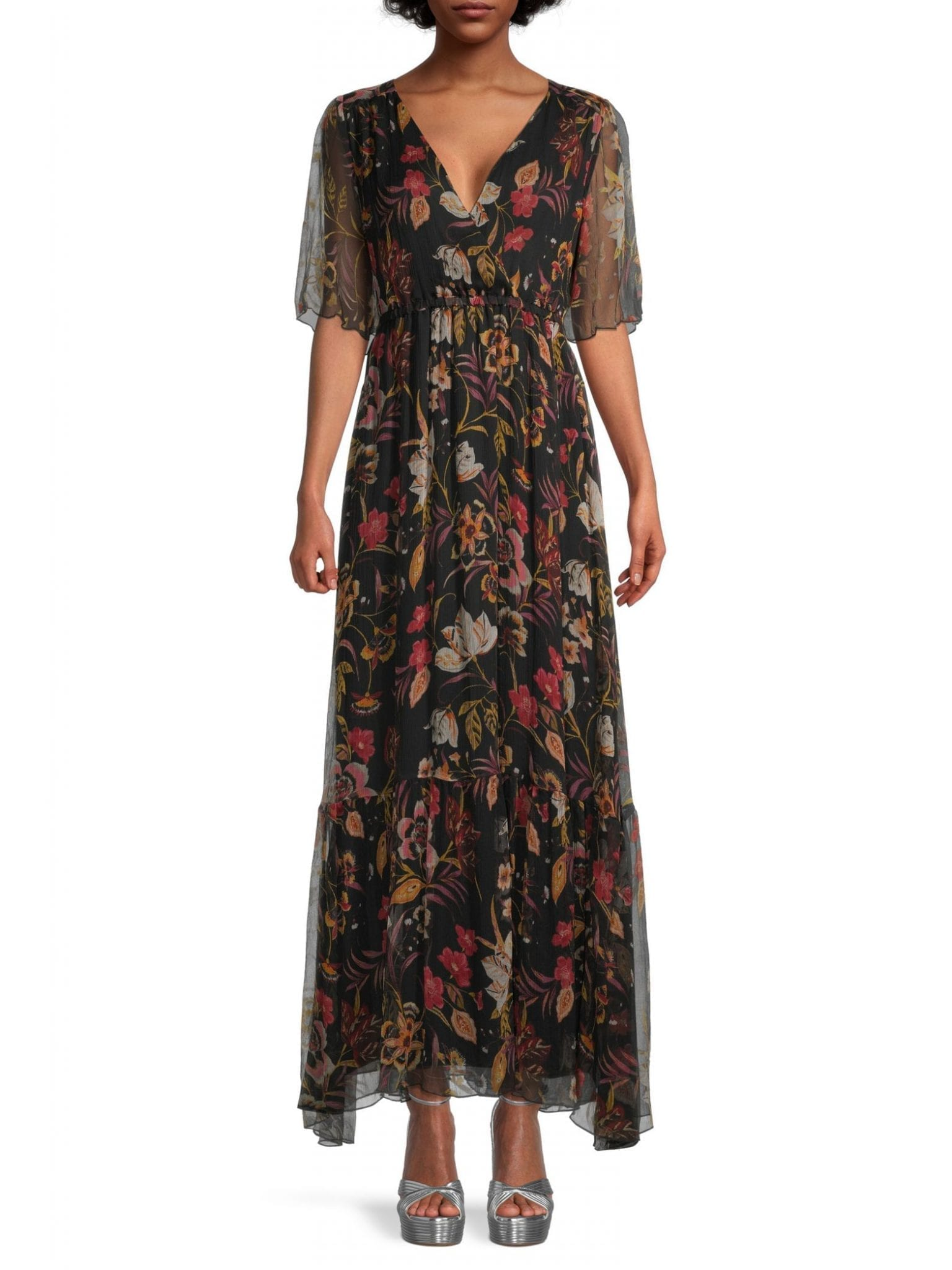 JOHNNY WAS Sucre Silk Maxi Dress