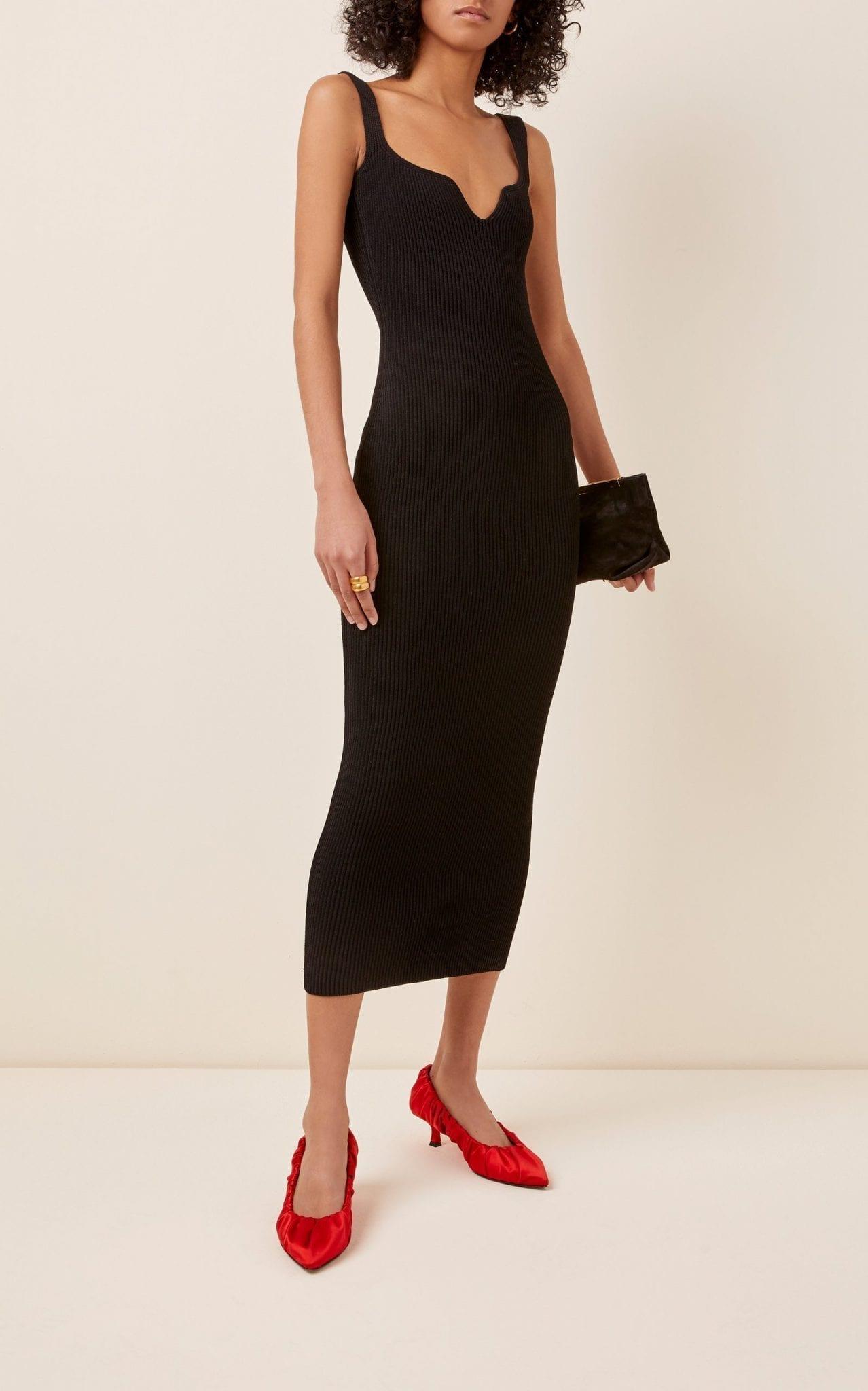 KHAITE Nina Sleeveless Crepe Dress