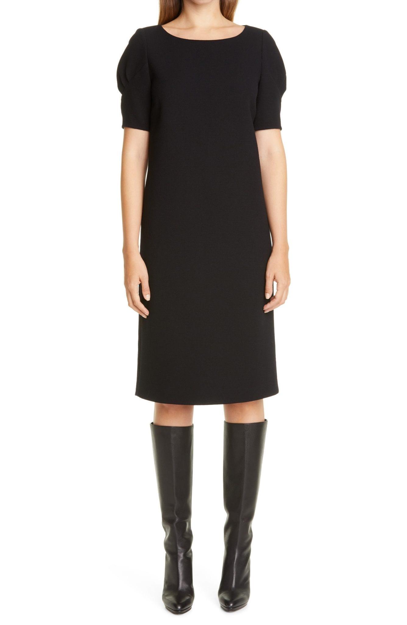 LAFAYETTE 148 NEW YORK Milena Nouveau Wool Crepe Shift Dress