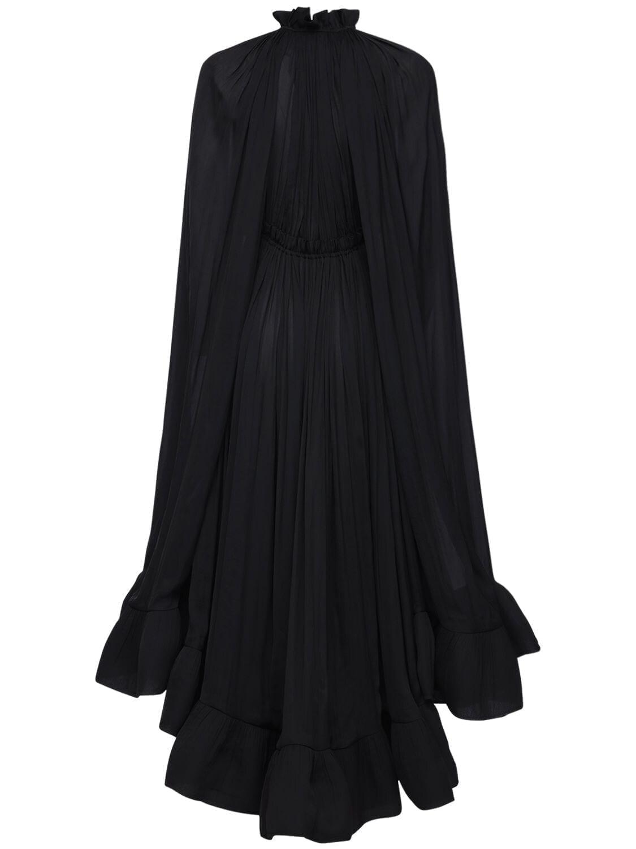 LANVIN Draped Georgette Midi Dress