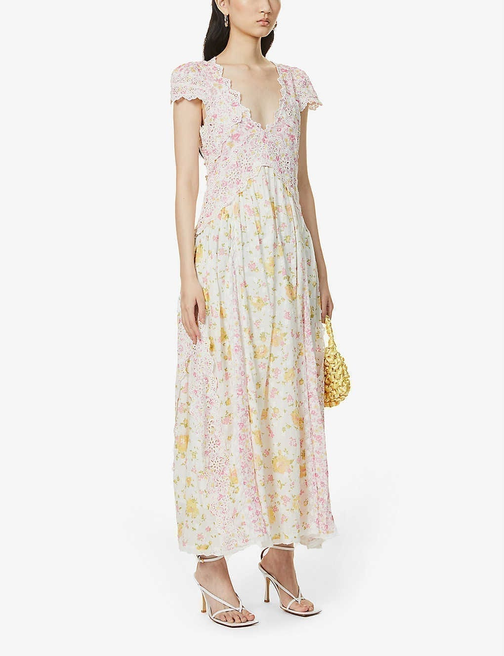 LOVESHACKFANCY Archer Floral-print Cotton Midi Dress