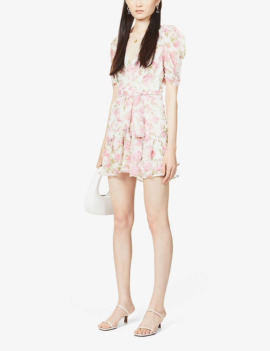 LOVESHACKFANCY Arlo Silk Mini Dress