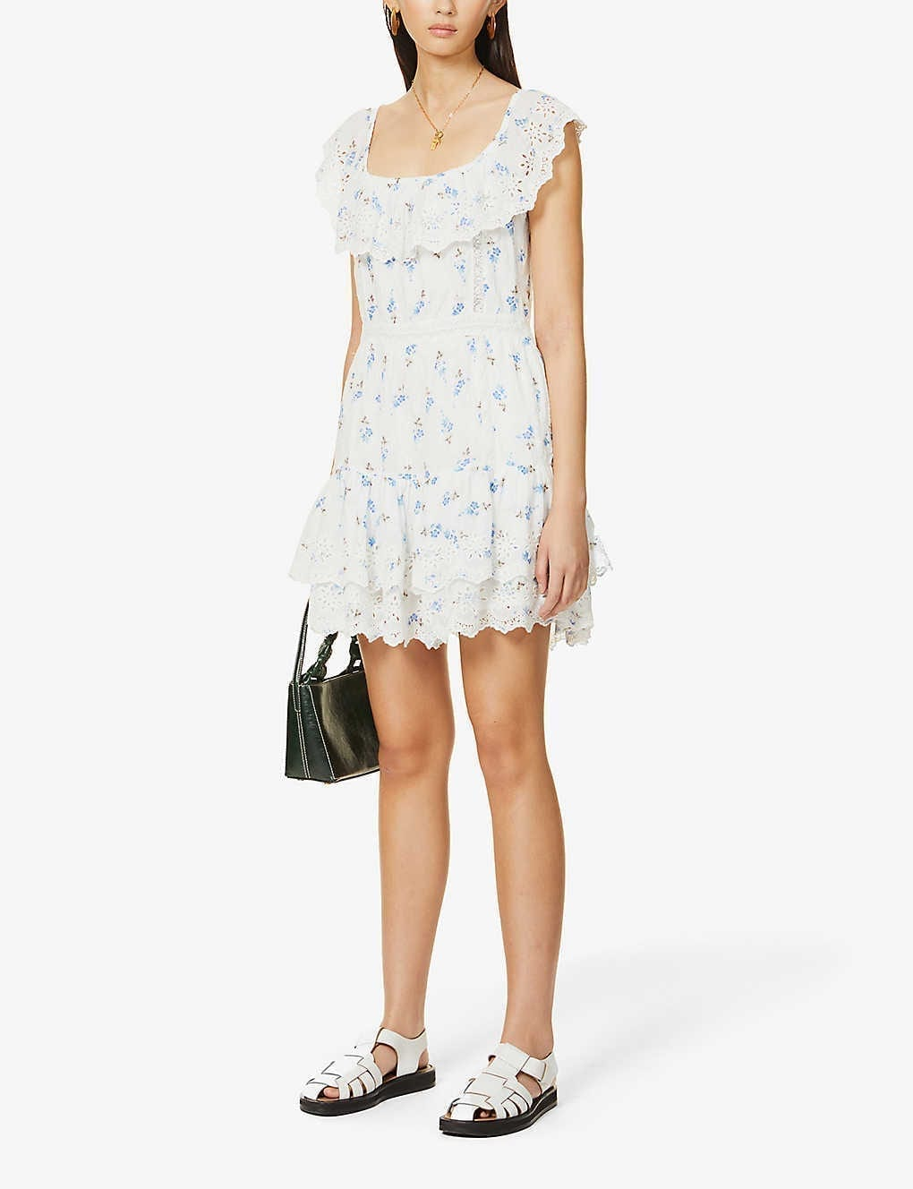 LOVESHACKFANCY Denver Floral-print Cotton Mini Dress