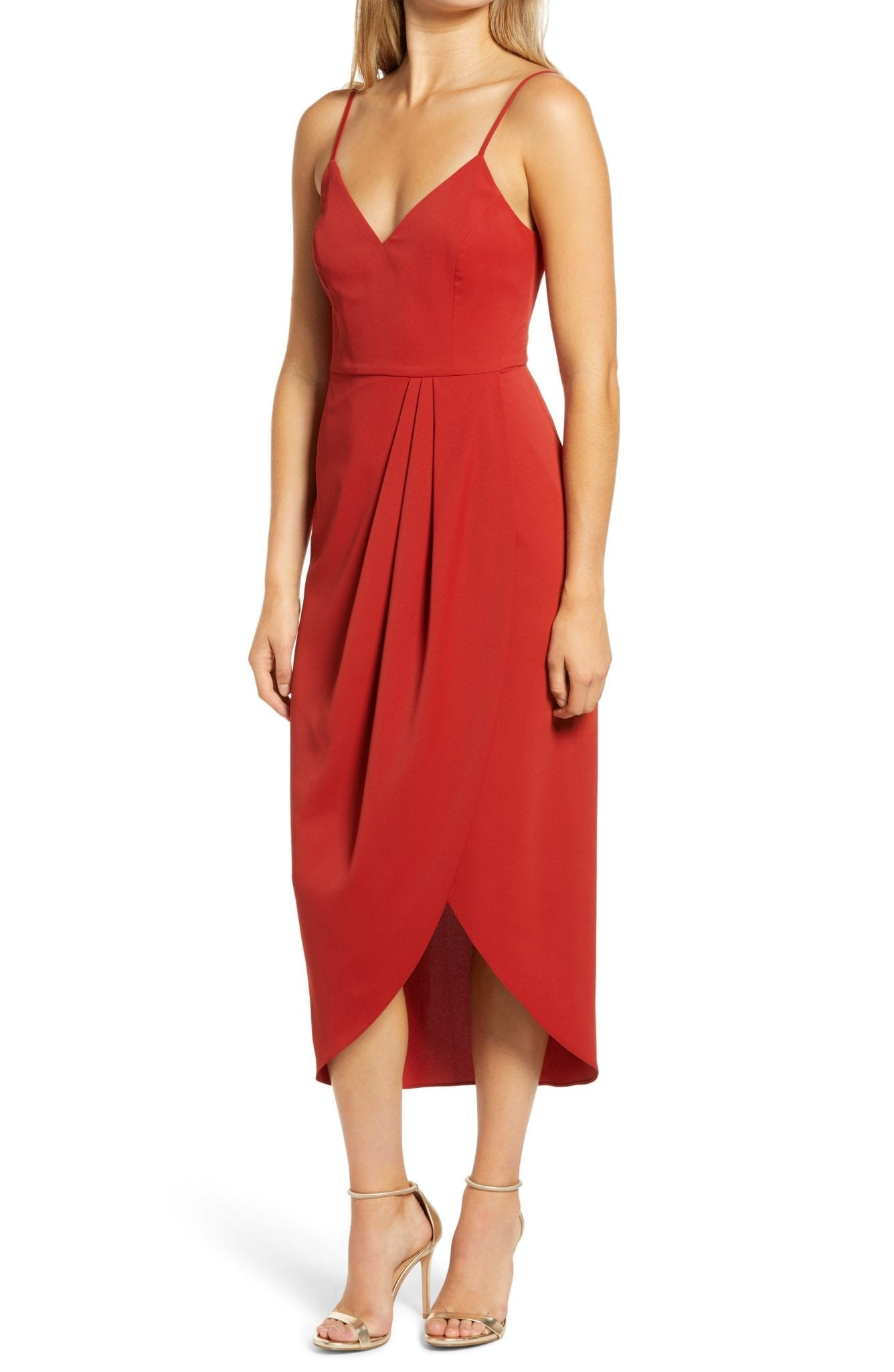 LULUS Reformation Reinette V-Neck Midi Dress