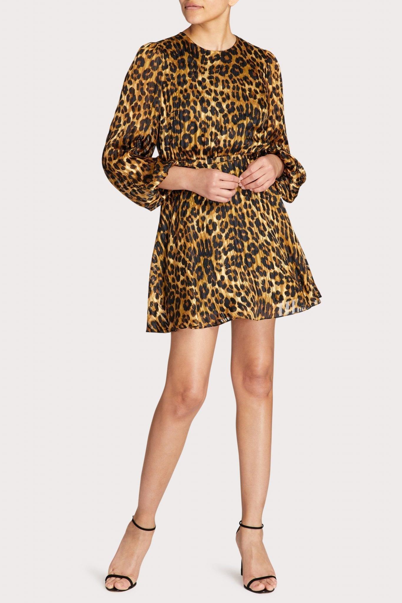 MILLY Elma Cheetah Burnout Dress