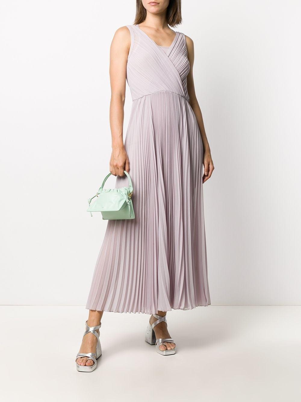 PATRIZIA PEPE Pleated Belted Dress
