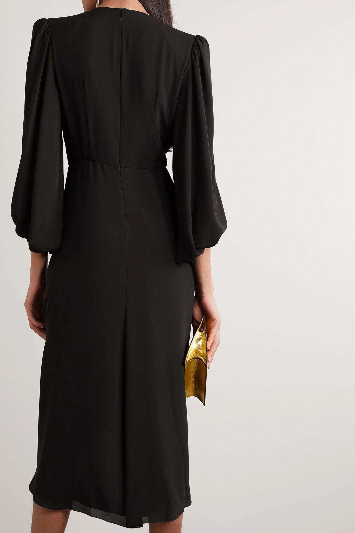 PHILOSOPHY DI LORENZO SERAFINI Asymmetric Gathered Crepe Dress