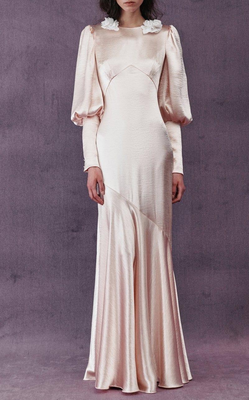 PHILOSOPHY DI LORENZO SERAFINI Hammered-Satin Maxi Dress