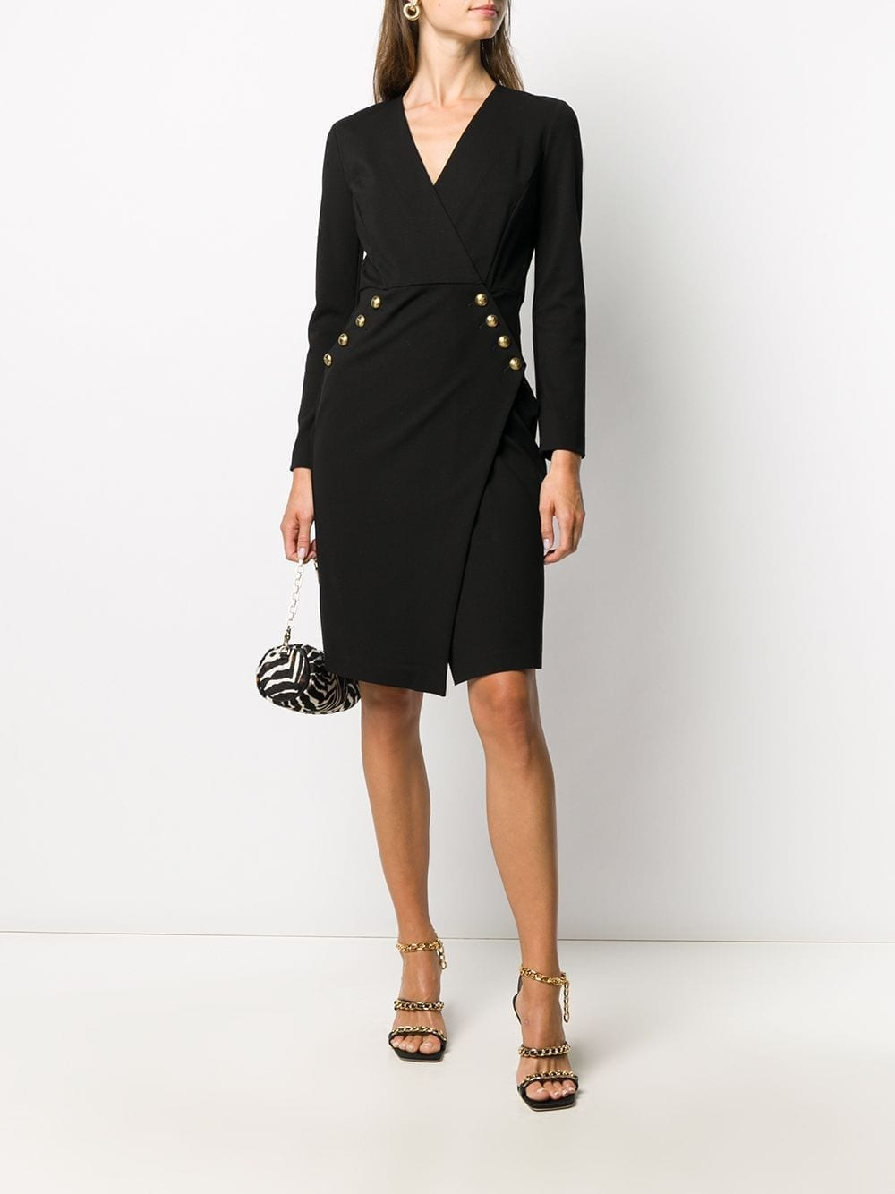 PINKO Long-sleeve Fitted Dress