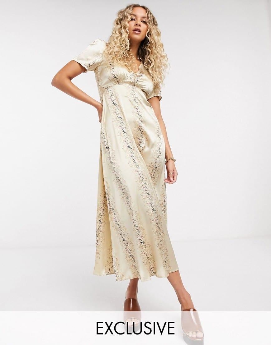 RECLAIMED VINTAGE INSPIRED Midi Tea Dress