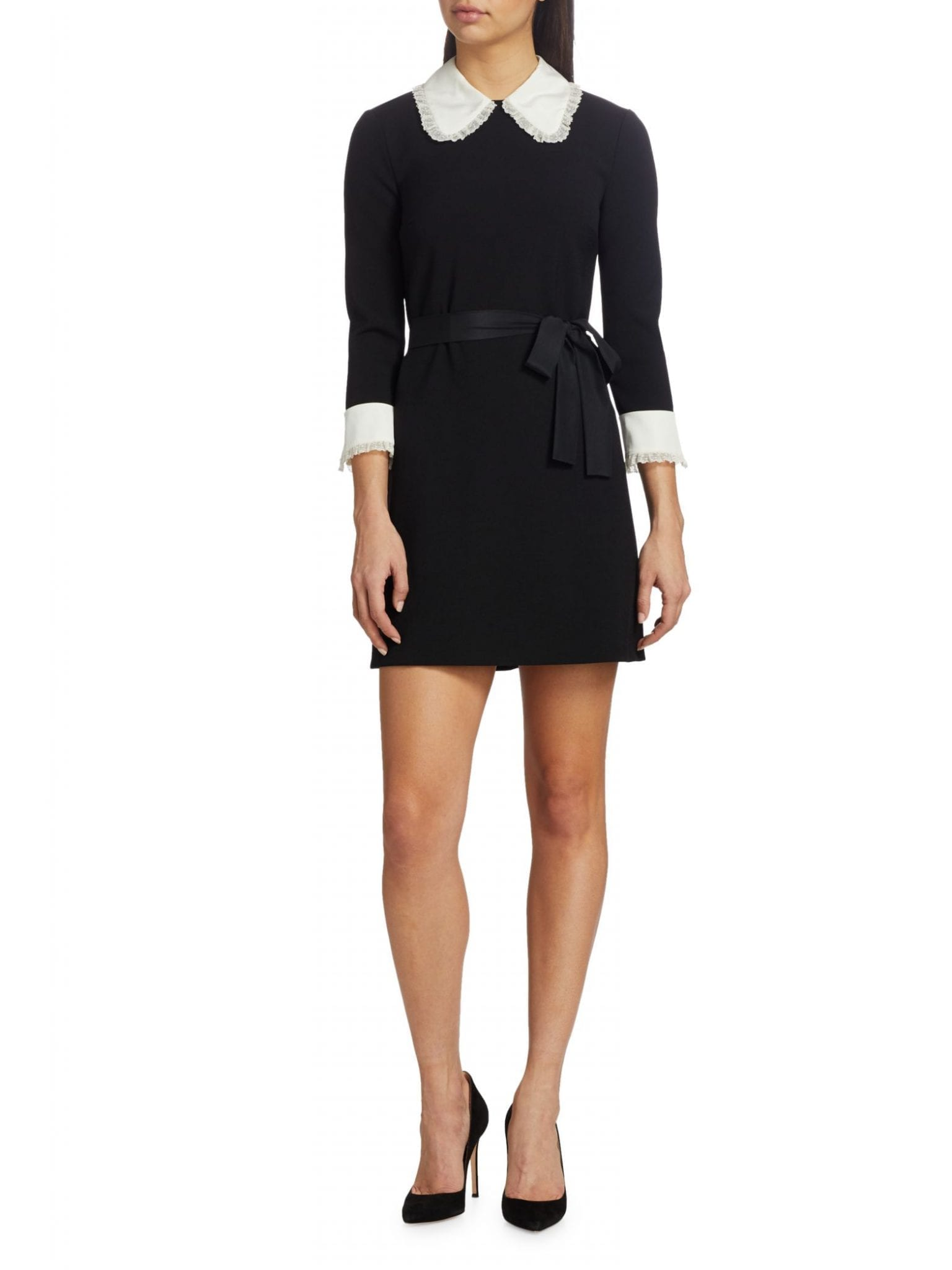 REDVALENTINO Crepe De Chine Collar Dress