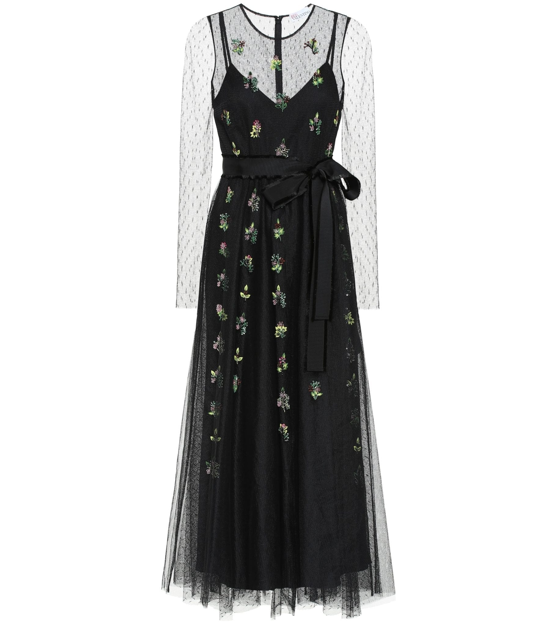 REDVALENTINO Embellished Embroidered Tulle Gown