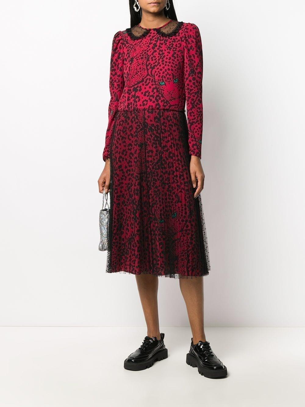 REDVALENTINO Leopard-print Midi Dress