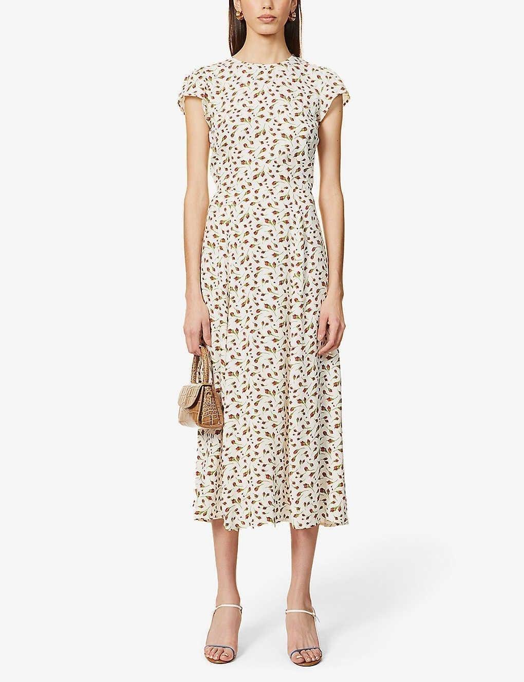 REFORMATION Gavin Floral-print Woven Midi Dress