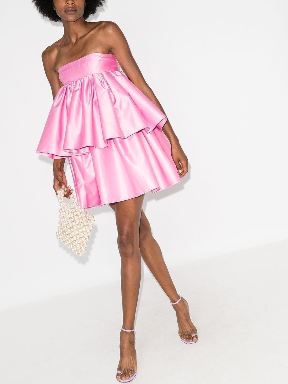 ROTATE Carmina Tiered Ruffled Cocktail Dress