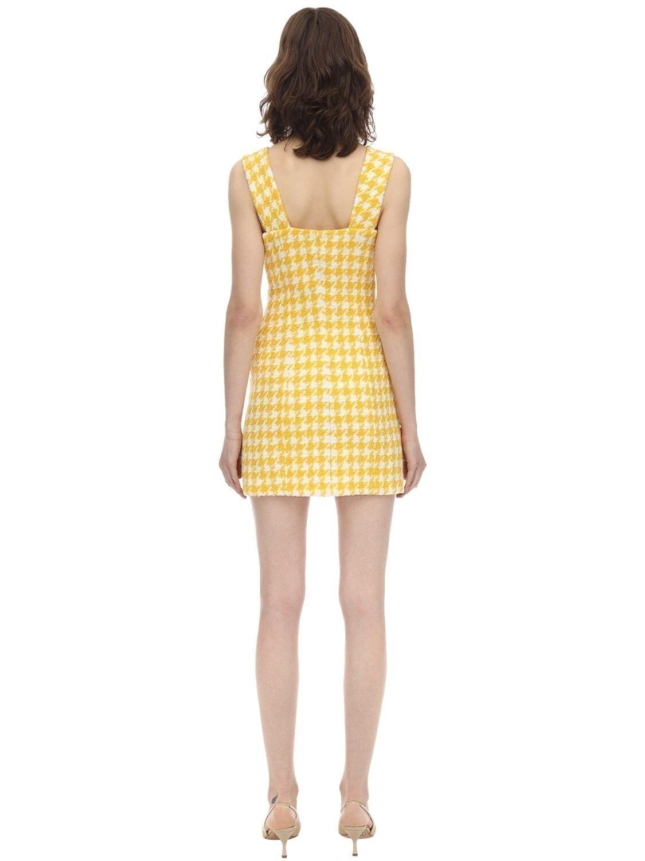ROWEN ROSE Exclusive Wool Houndstooth Tweed Dress