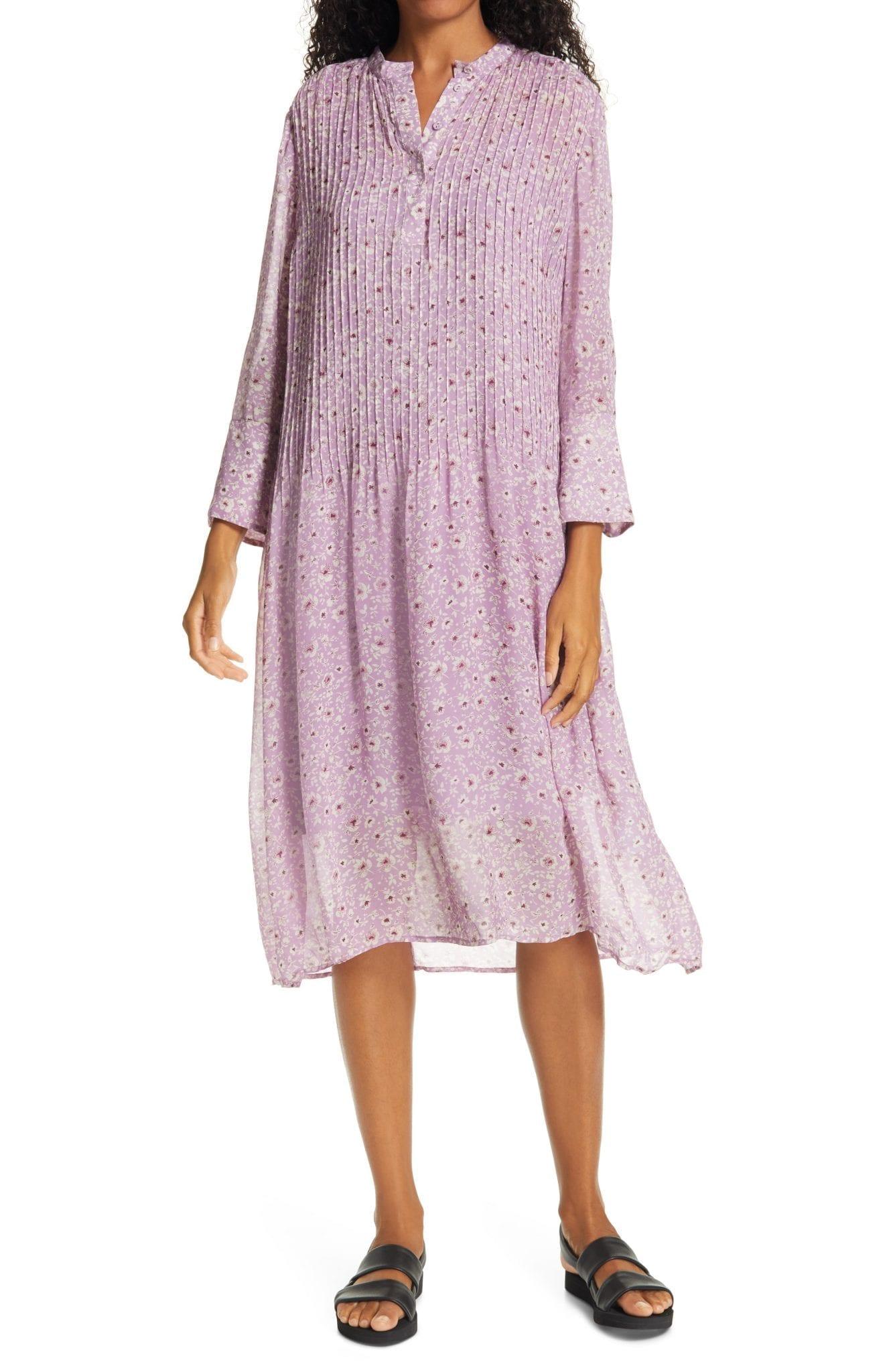 SAMSØE SAMSØE Elm Floral Print Shirt Dress