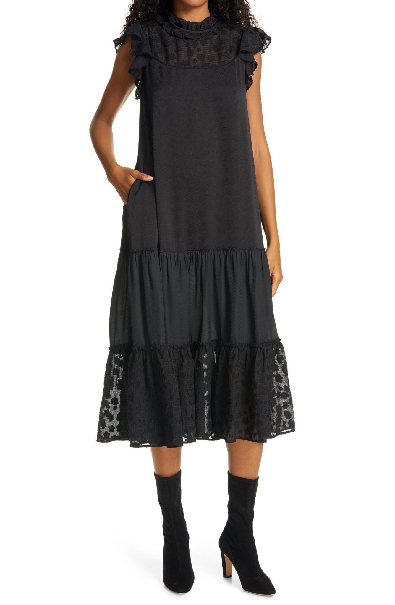 SAMSØE SAMSØE Opala Tiered Lace Dress