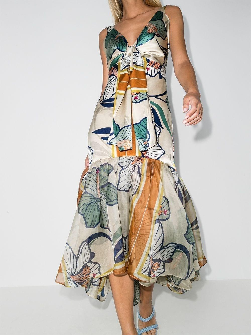 SILVIA TCHERASSI Floral-print Midi Dress