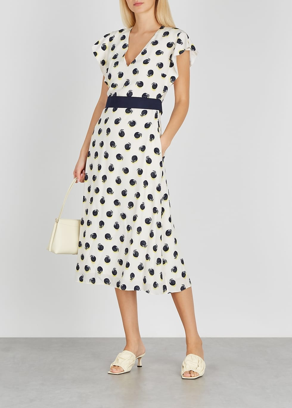 STELLA MCCARTNEY Reese Printed Silk Crepe De Chine Midi Dress
