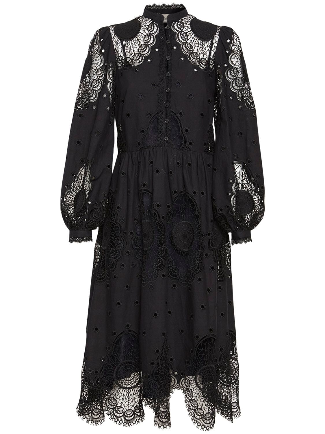 TEMPERLEY LONDON Cotton Blend Lace Midi Dress