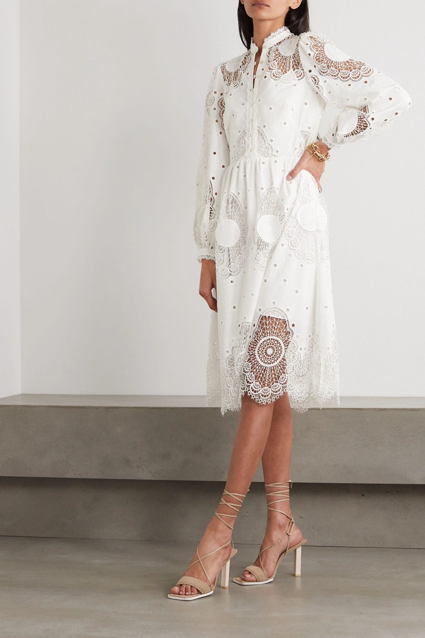 TEMPERLEY LONDON Judy Broderie Anglaise Poplin Midi Dress
