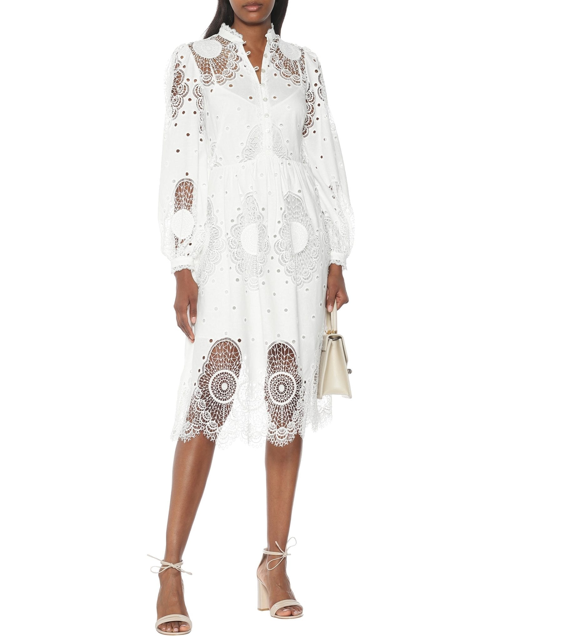 TEMPERLEY LONDON Judy Embroidered Lace Midi Dress
