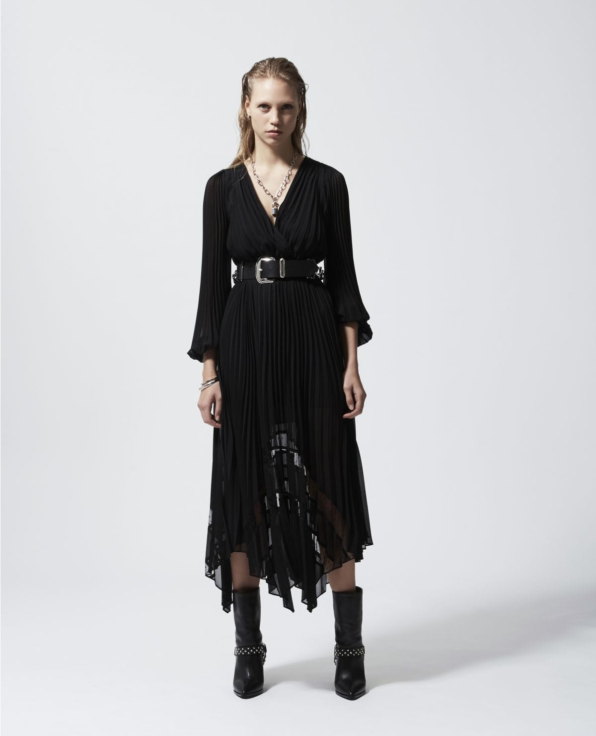 THE KOOPLES Black Long Flowing Dress
