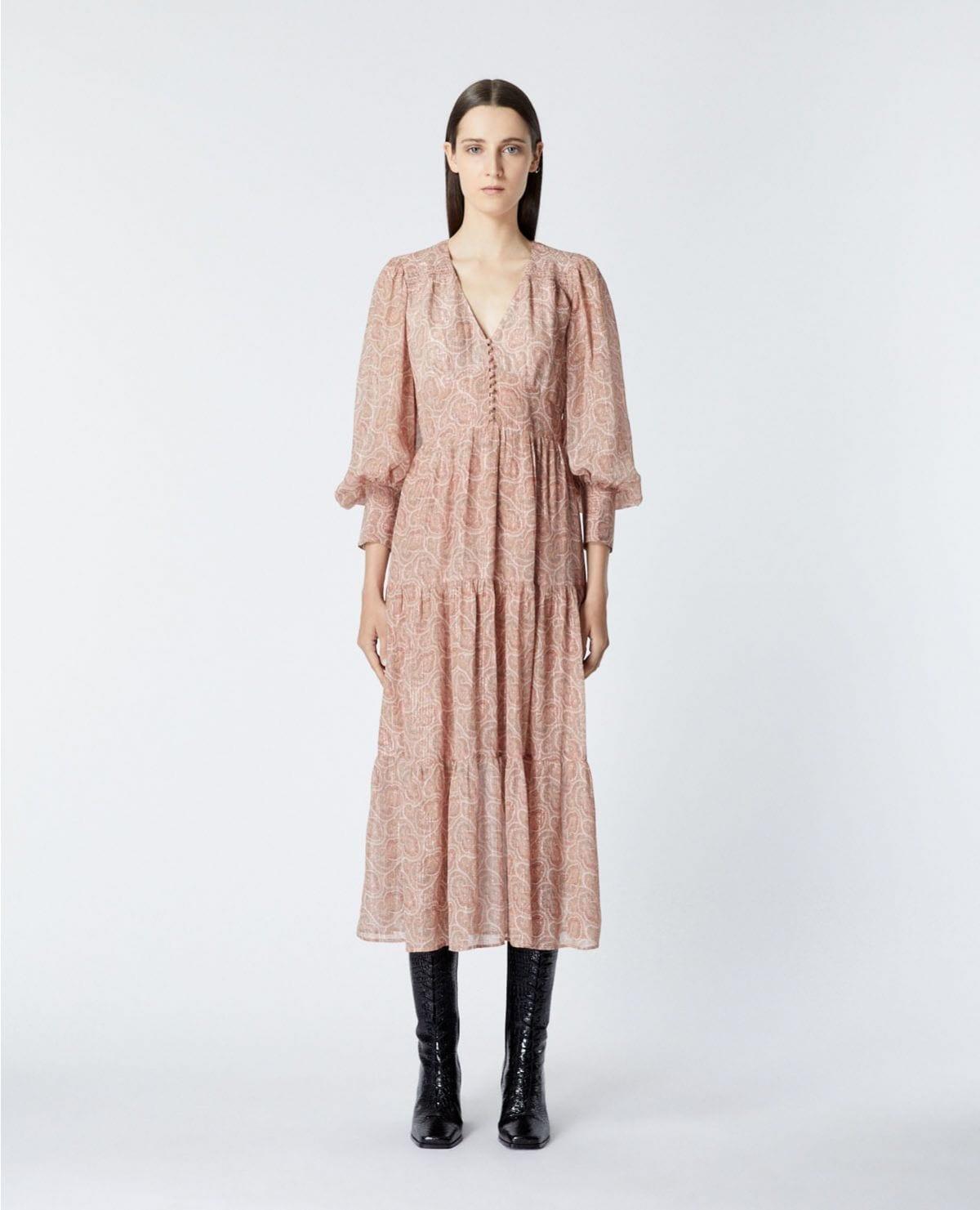 THE KOOPLES Long Printed Dress