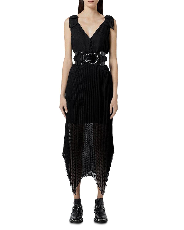 THE KOOPLES Pleated Skirt Midi Dress