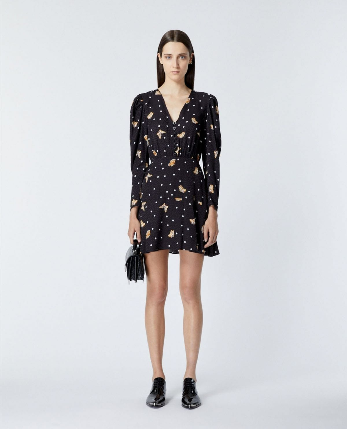 THE KOOPLES Short Black Dress