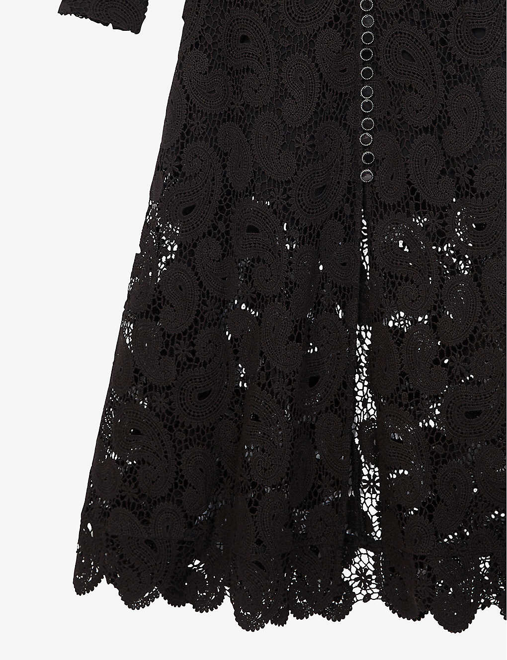 THE KOOPLES V-Neck Paisley Lace Maxi Dress