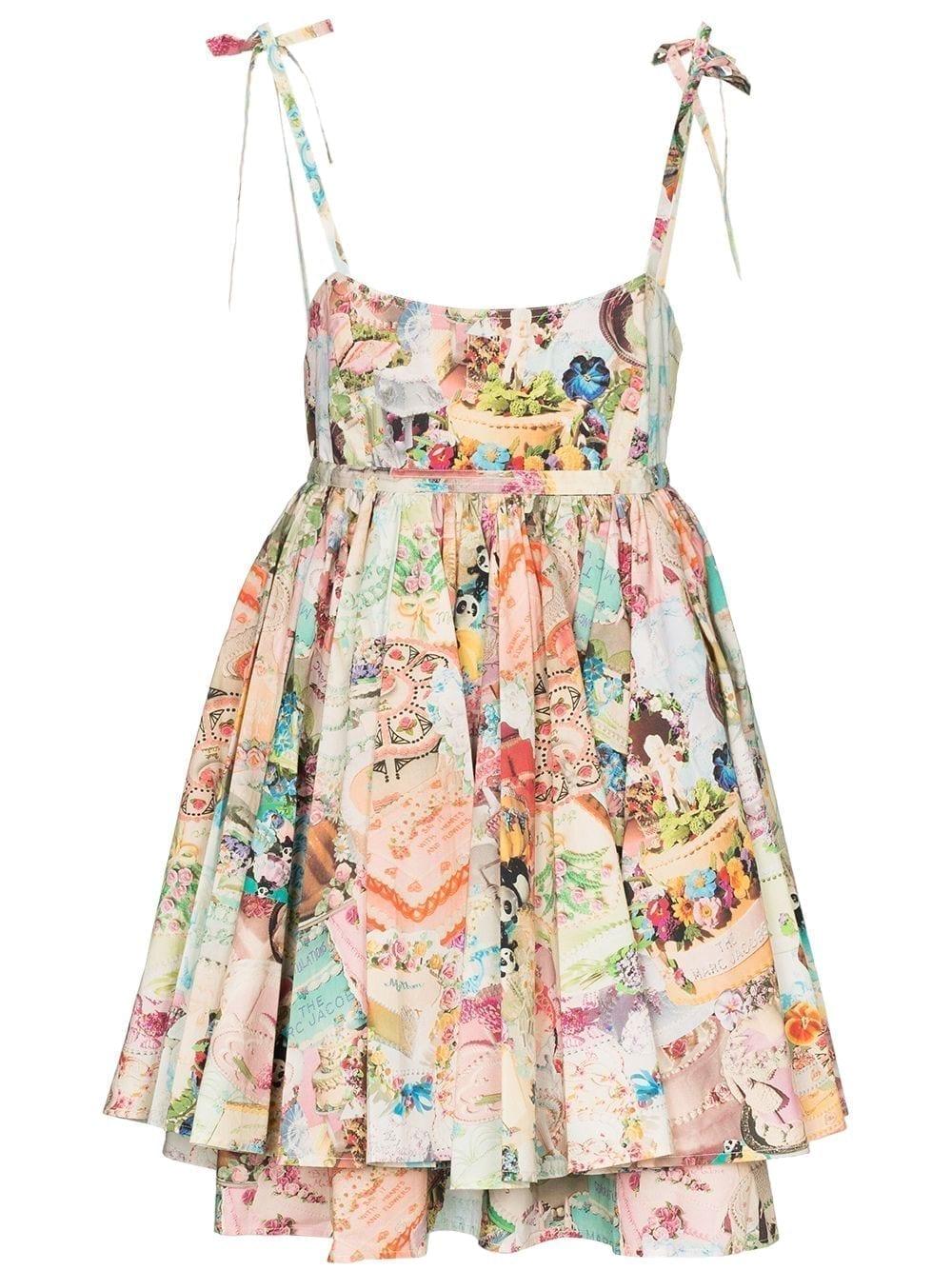 THE MARC JACOBS Babydoll Cake Print Dress