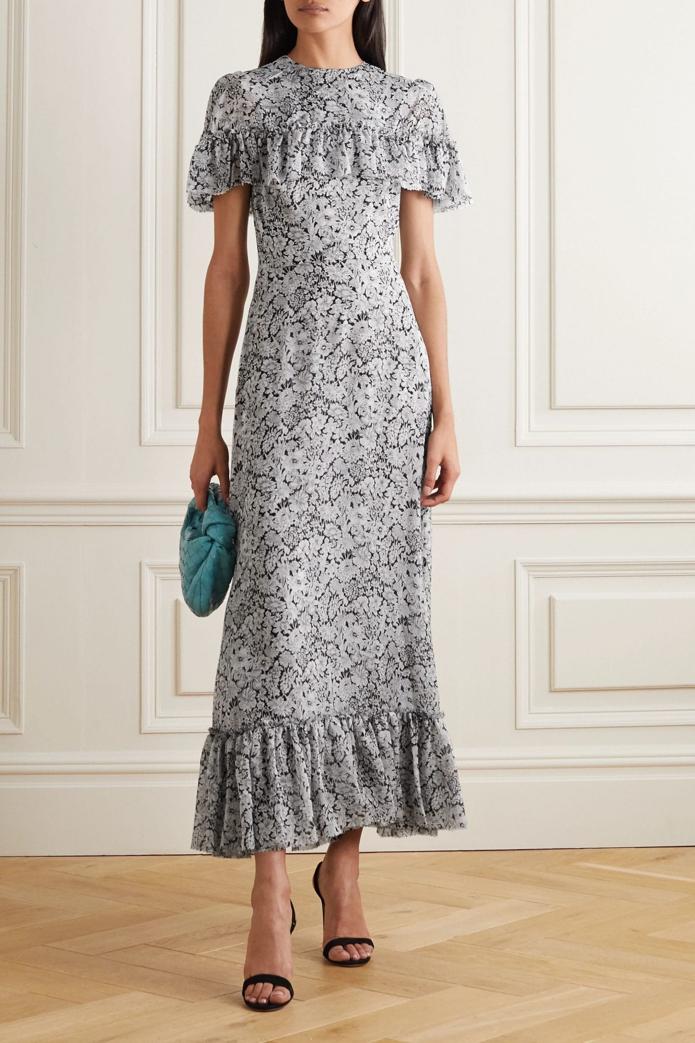 THE VAMPIRE'S WIFE Bombette Tiered Floral-print Silk Maxi Dress