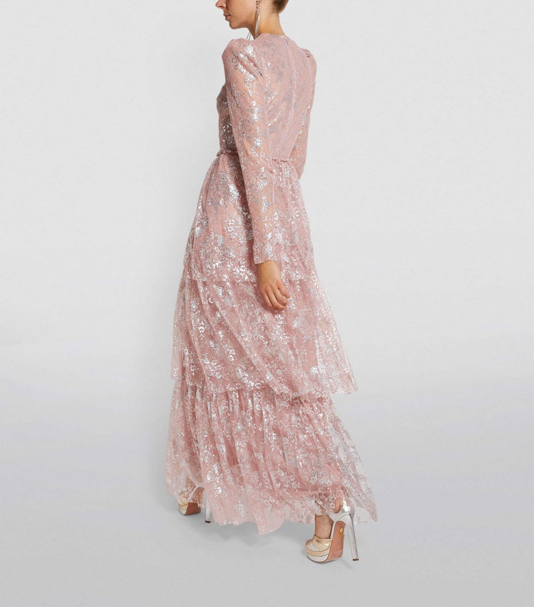 THE VAMPIRE'S WIFE Unrequited Lace Tiered Maxi Dress