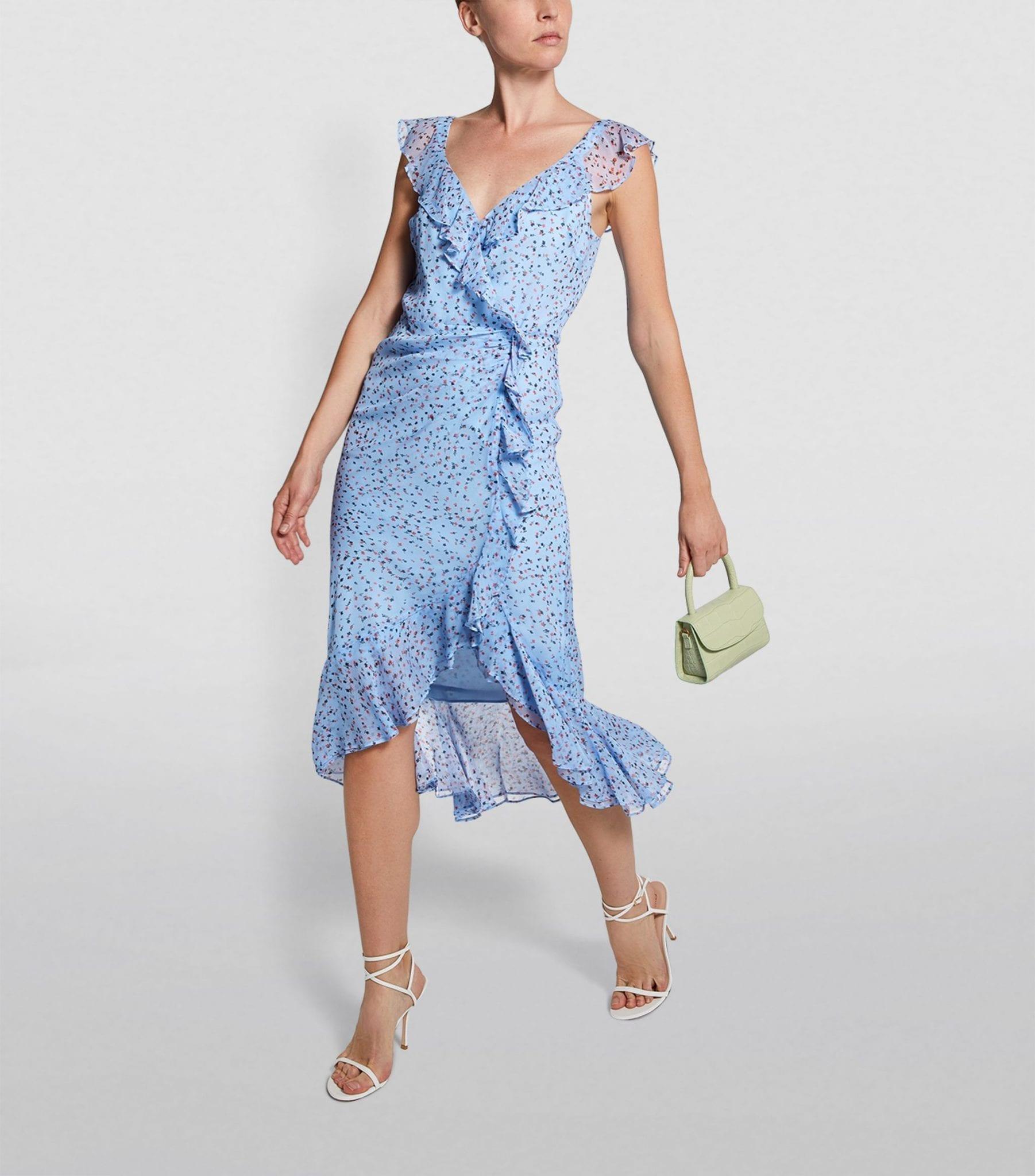 VERONICA BEARD Silk Amal Midi Dress