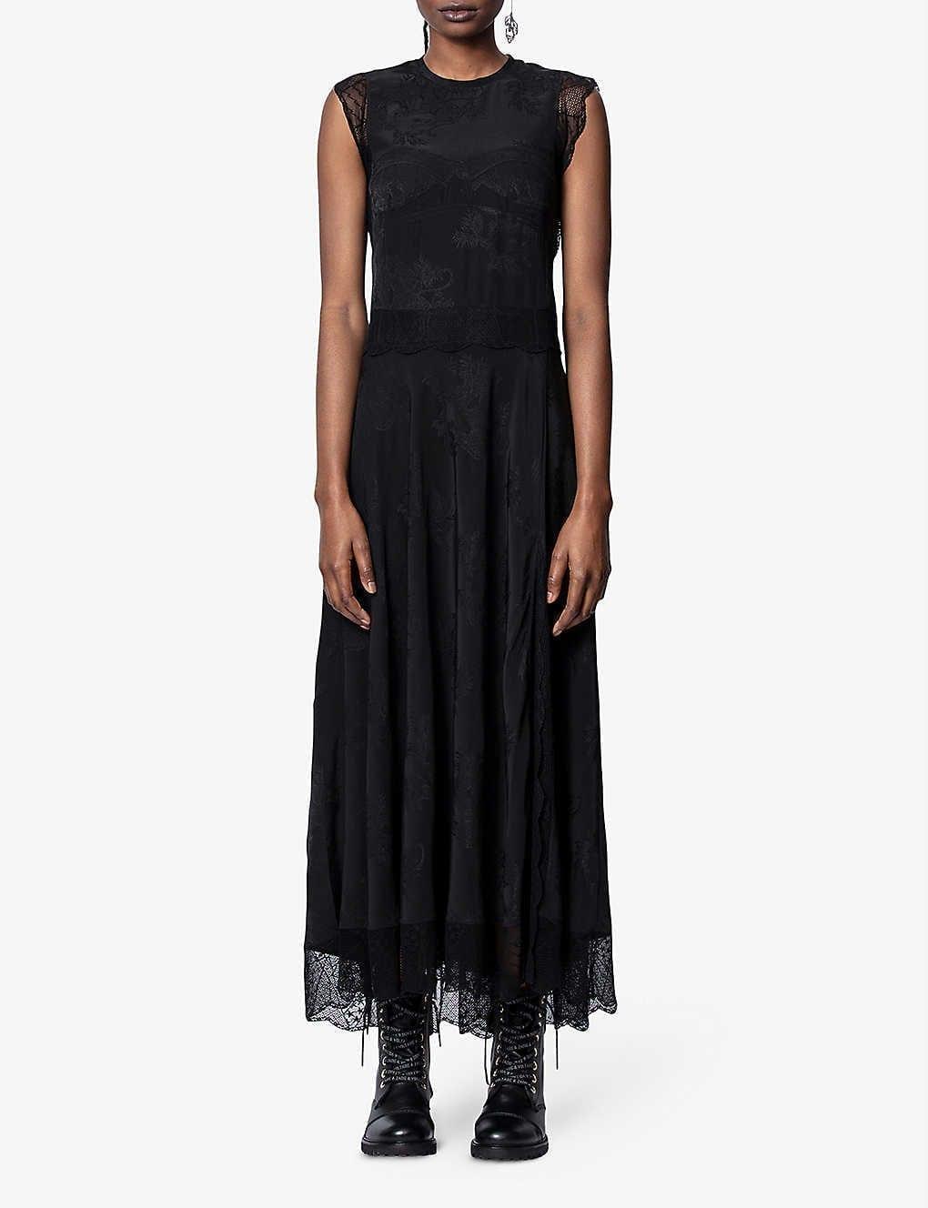 ZADIG&VOLTAIRE Rage Silk-jacquard Maxi Dress