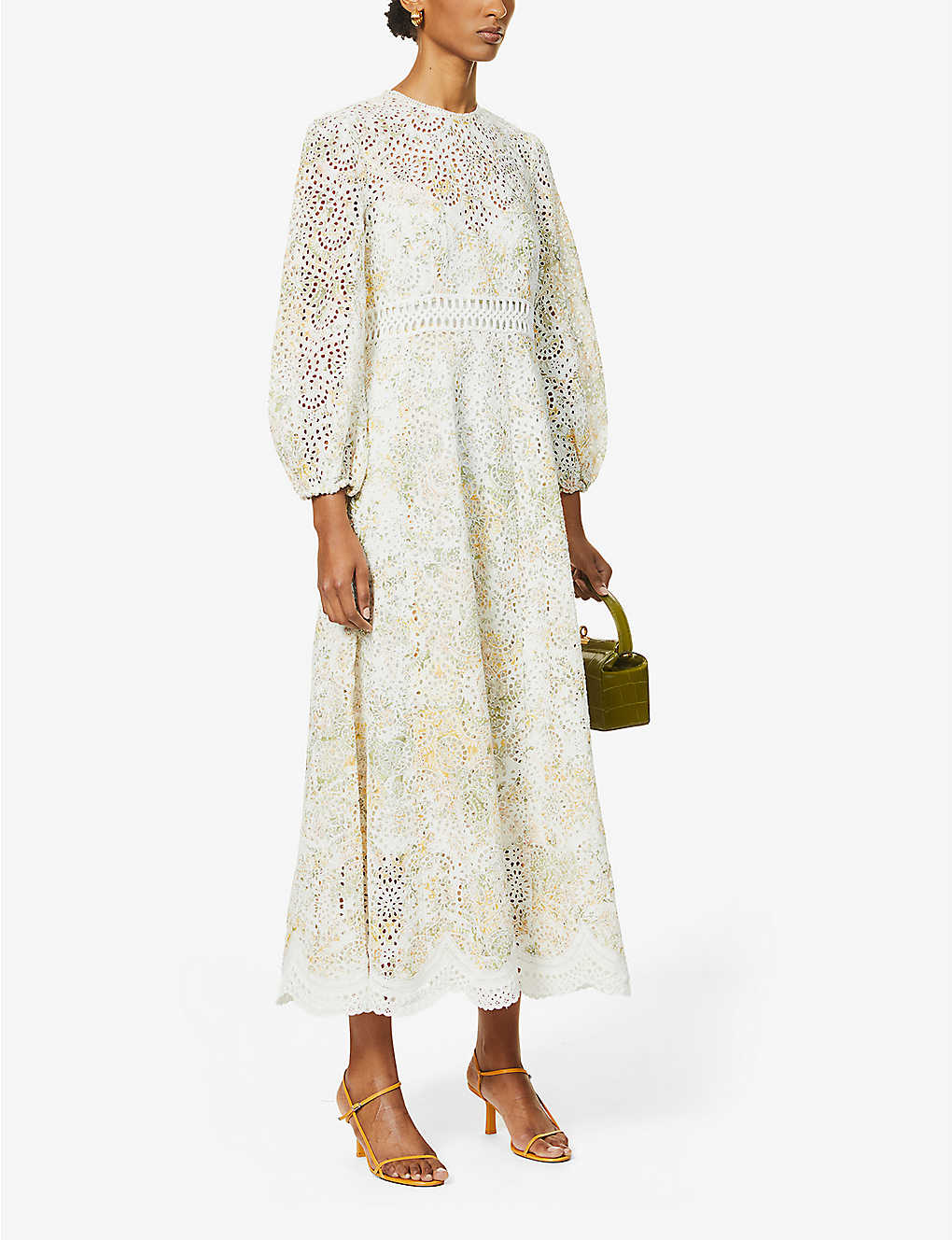 ZIMMERMANN Amelie Floral And Broderie Pattern Woven Maxi Dress