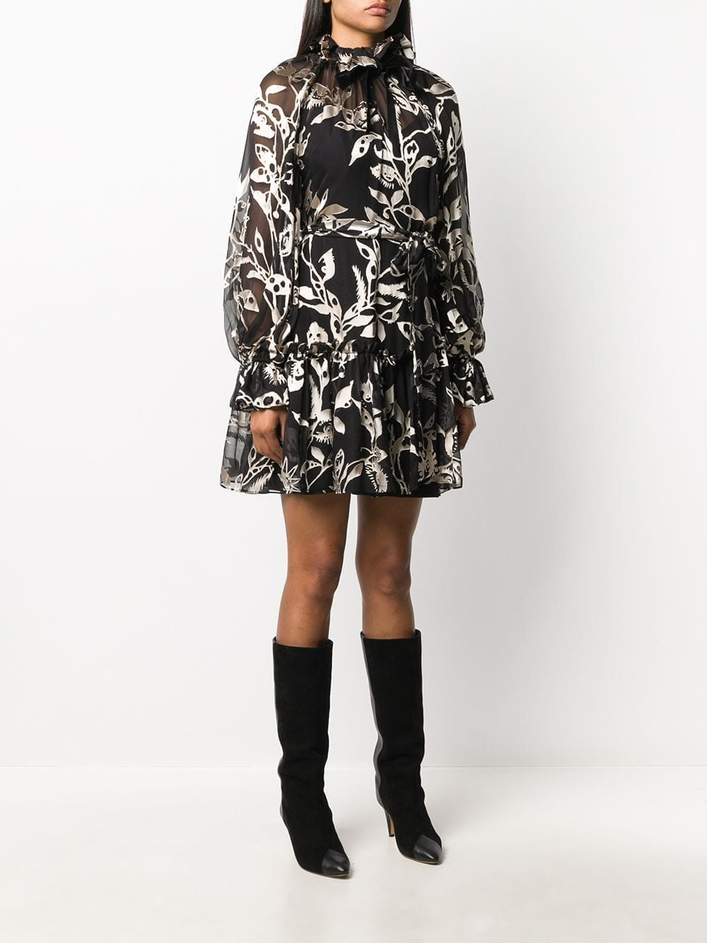 ZIMMERMANN Ladybeetle Mystic Eye-print Mini Dress