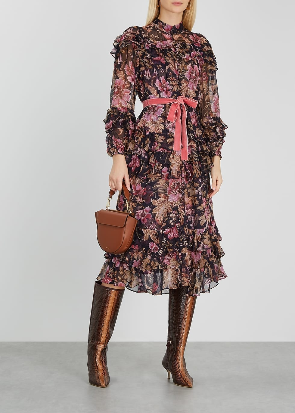 ZIMMERMANN Lucky Floral-print Silk-chiffon Midi Dress