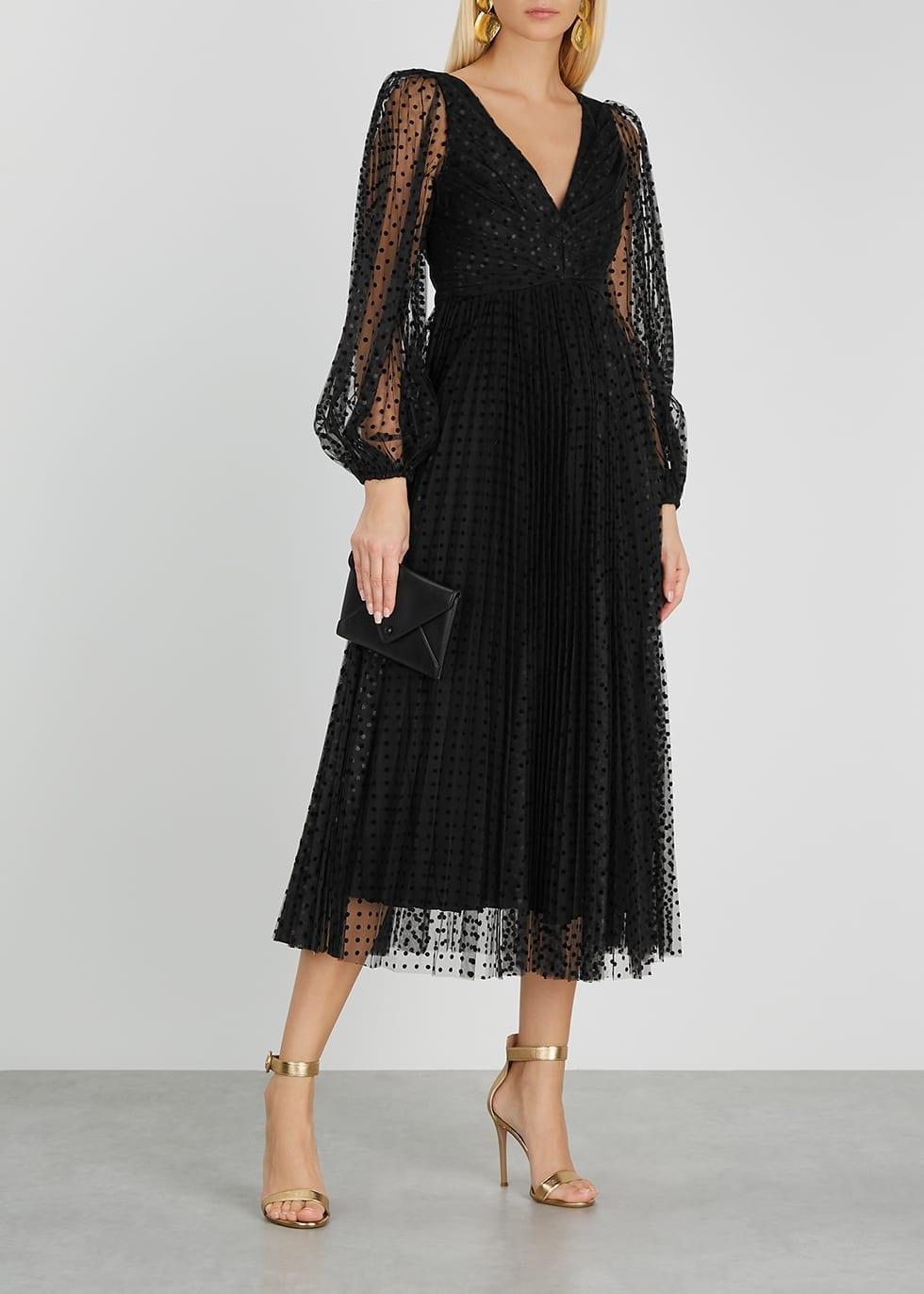 ZIMMERMANN Lucky Polka-dot Tulle Midi Dress