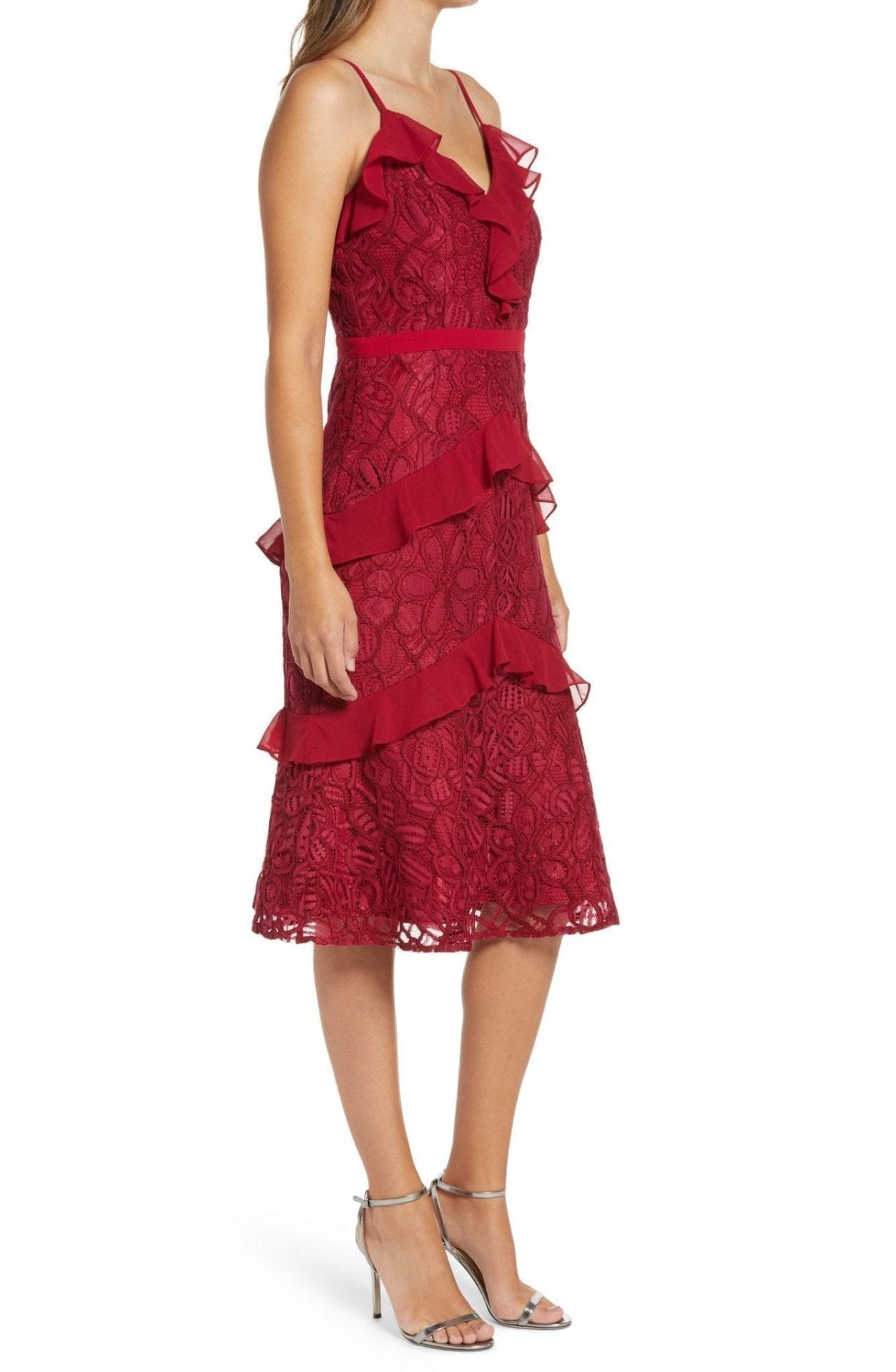 ADELYN RAE Enslie Embroidered Lace Dress