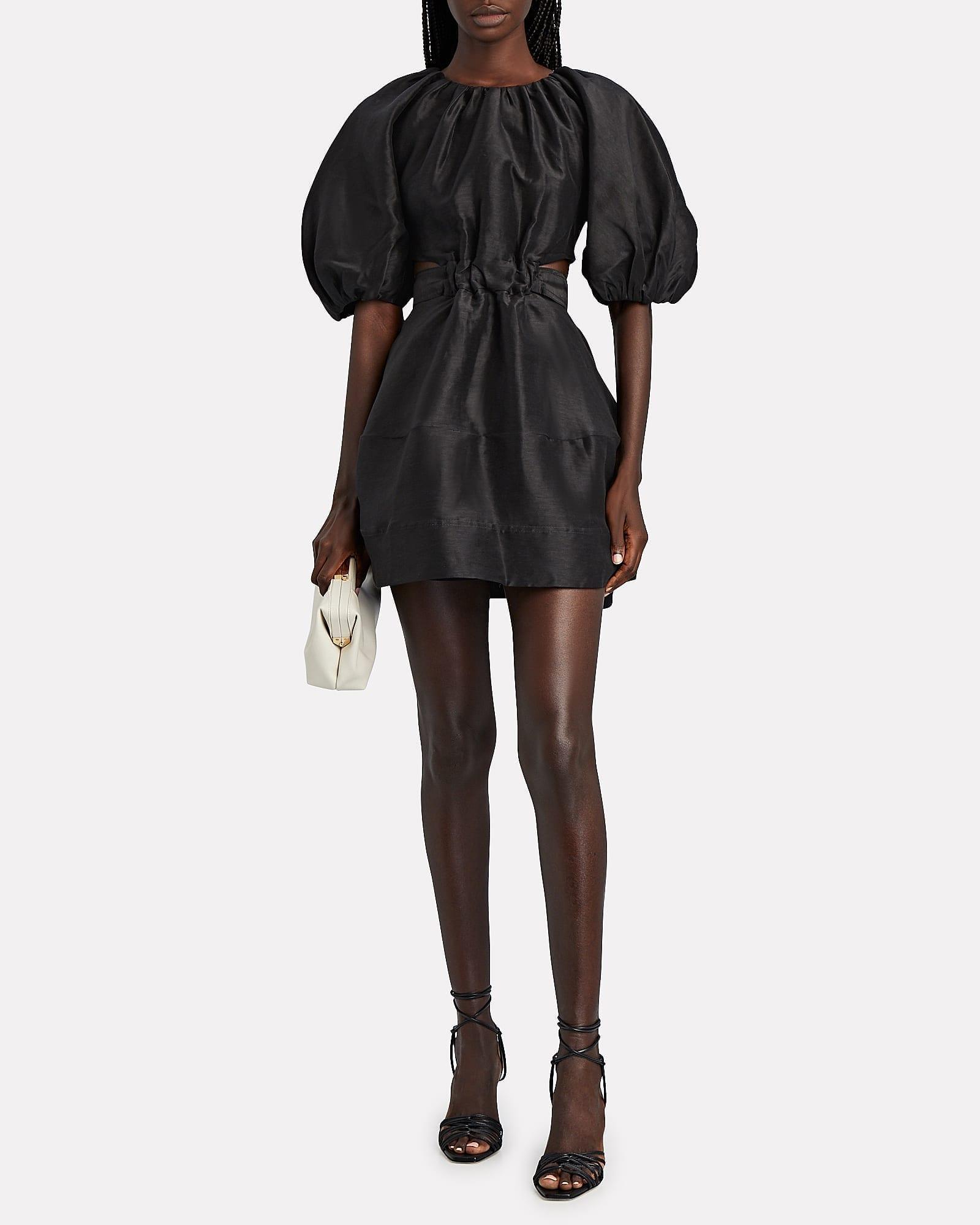 AJE Psychedelia Cut-Out Mini Dress