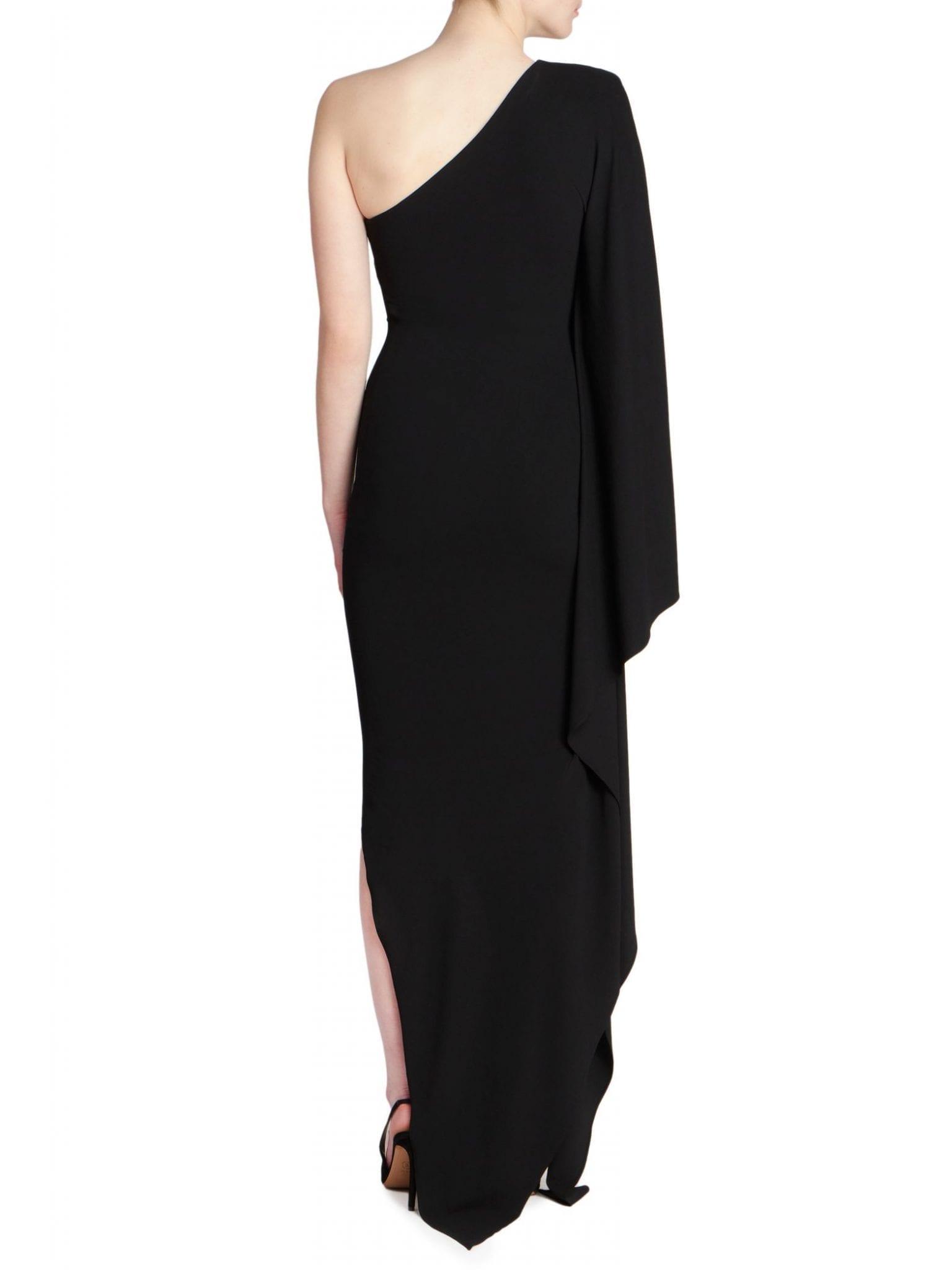 ALEXANDRE VAUTHIER Asymmetric One-Shoulder Draped Gown