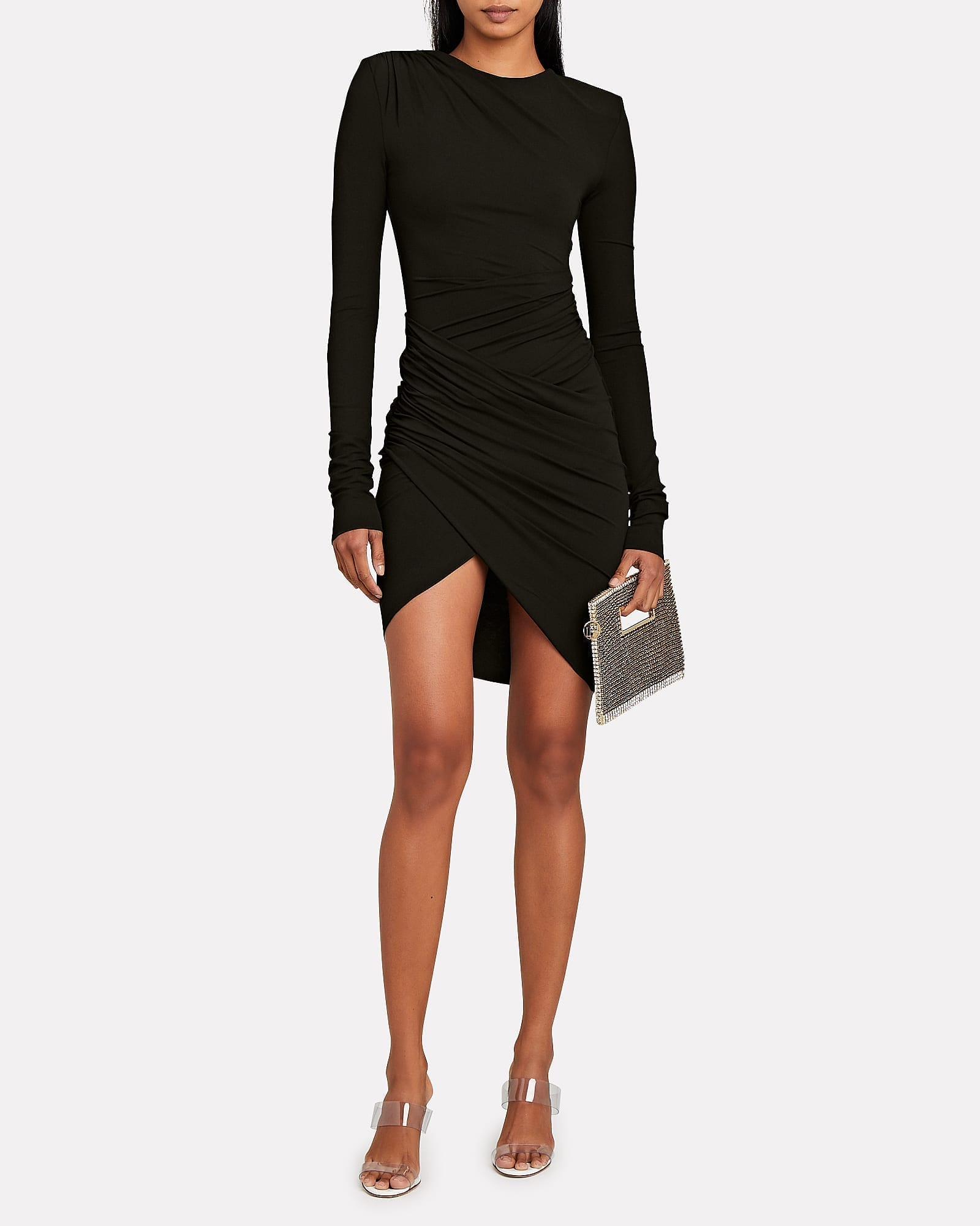 ALEXANDRE VAUTHIER Draped Jersey Long Sleeve Dress